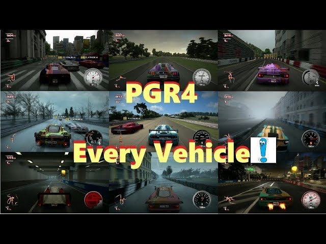 Project Gotham Racing 4 (PGR4): Every vehicle (car/bike) (Gameplay)