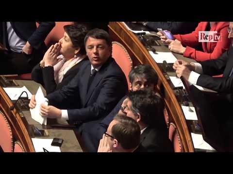 Il debutto da senatore di Matteo Renzi a Palazzo Madama