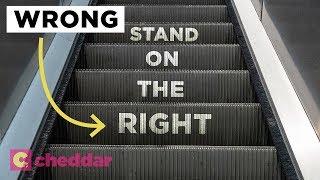 The Unseen Inefficiency of Escalator Etiquette - Cheddar Explains thumbnail