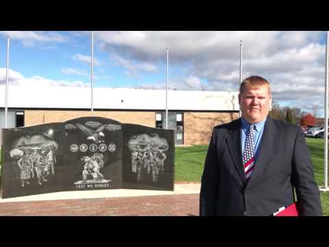 Kent City High School dedicates veterans memorial