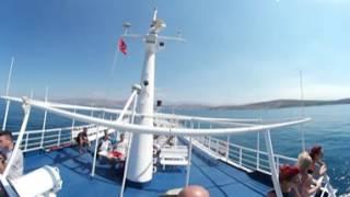 VR 360 video Cruising mediterranian sea from Sarande to korfu(Sarris, Corfu, Sarrande, Albania, Greece, Samsung Gear 360, Roadtrip, Tesla from norway., 2016-07-20T09:32:00.000Z)