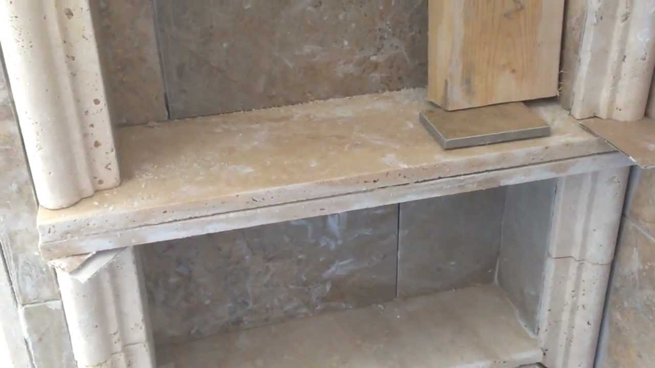 Shower recessed shelf or niche youtube