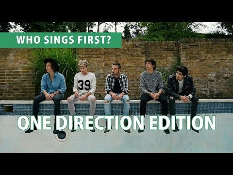 [RANKING] Who Sings First? | ONE DIRECTION