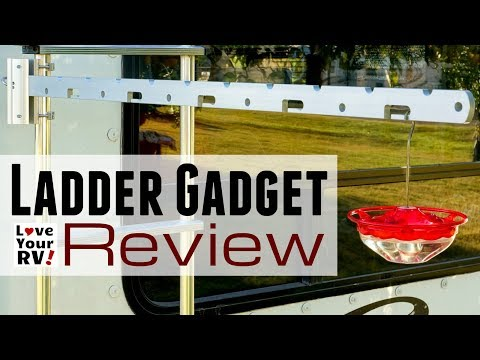 Ladder Gadget Review - Fold Up Hanger Arm for the RV Ladder