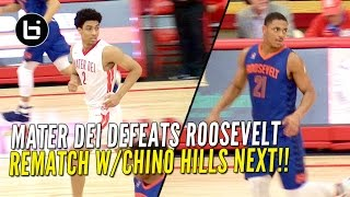 mater dei routes roosevelt will get rematch with chino hills