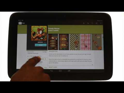 How to download you first app on your Samsung Google Nexus 10 | Android tablet tutorials | THM
