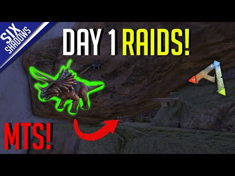 3 RAIDS ON DAY 1! MTS S4 - Ark: Survival Evolved
