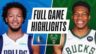 MAVERICKS at BUCKS   NBA PRESEASON FULL GAME HIGHLIGHTS   October 15, 2021