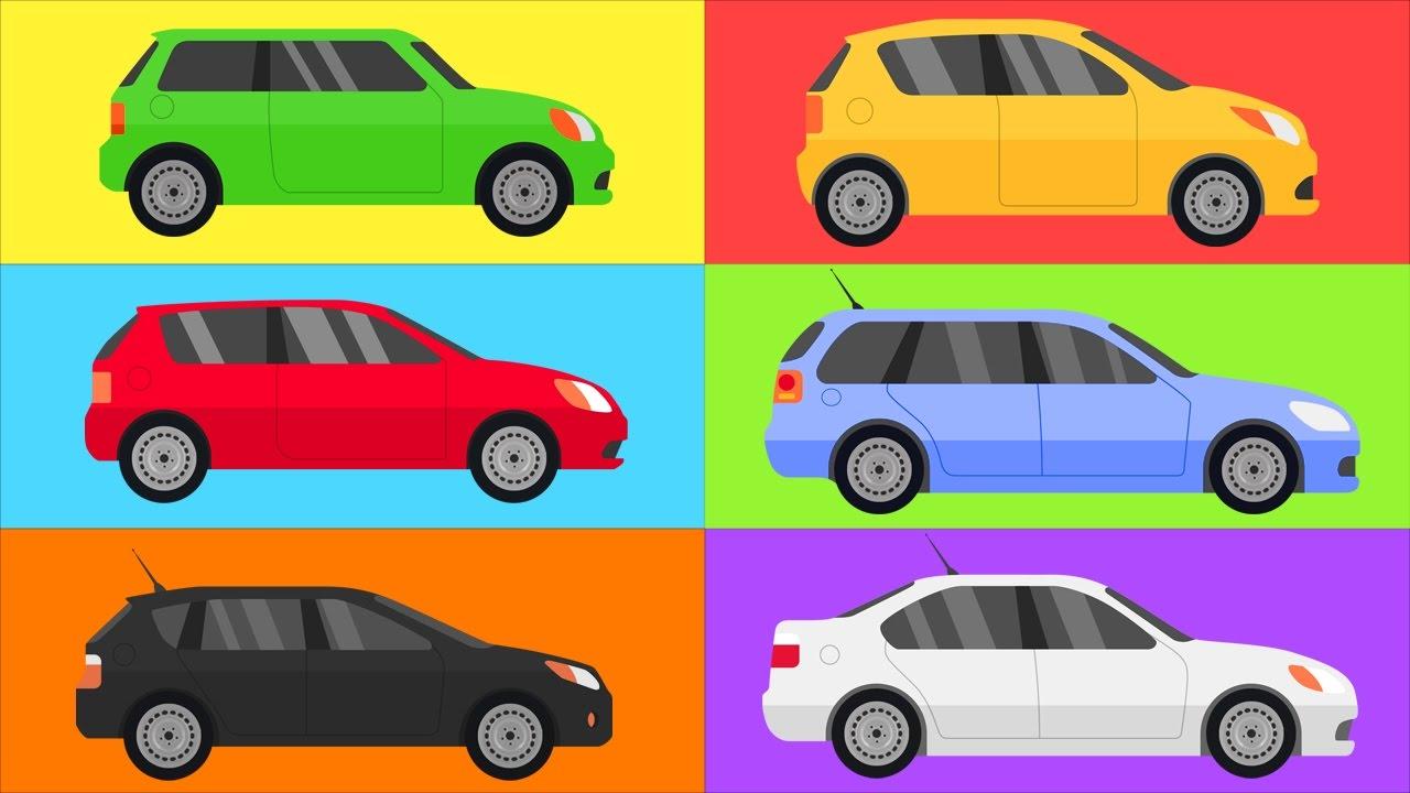 aprender as cores carros para crianças desenhos animados para