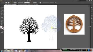 Laser Cut Tree Pendant - Place and Trace
