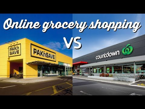 Online Grocery Shopping: Pak N Save Vs Countdown   A Thousand Words