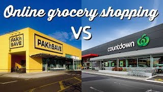 Online Grocery Shopping: Pak n Save vs Countdown | A Thousand Words