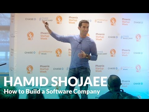 How to Start/Create/Build a Software Company - Hamid Shojaee PHX Startup Week