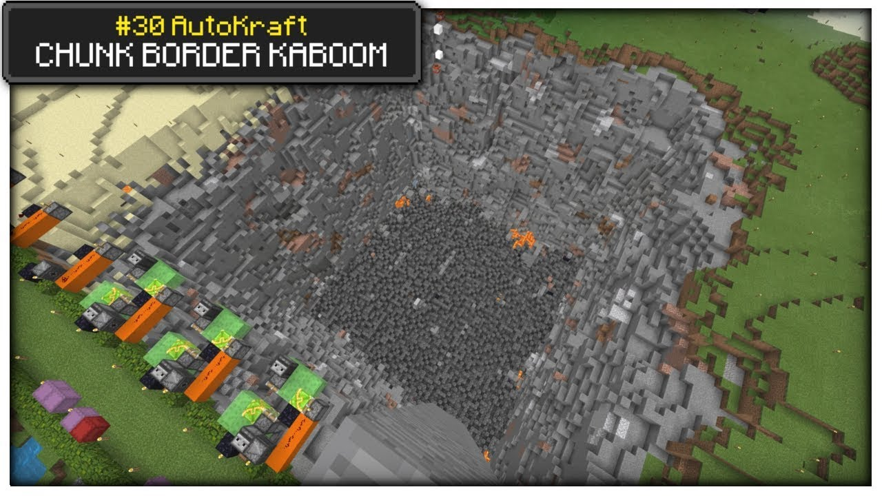 Minecraft - CHUNK BORDER BOOM [ AutoKraft Lets Play #30 ] Console / MCPE /  Bedrock