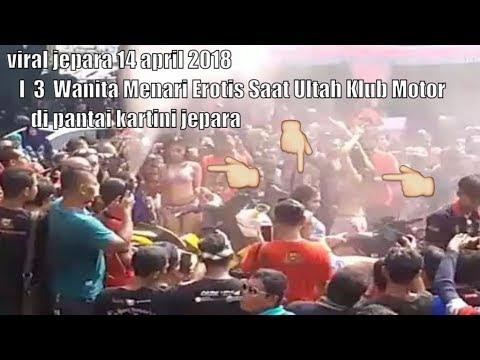 Viral Jepara 14 April 2018 I  3  Wanita Menari Erotis Saat Ultah Klub Motor Di Pantai Kartini Jepara