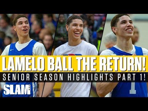 LaMelo Ball: The RETURN to High School! Senior Highlights Part 1 🔥
