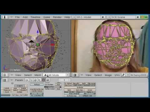 3D mesh capture from video using all free programs.