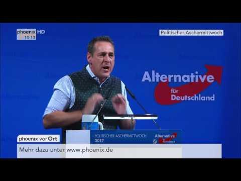 Politischer Aschermittwoch: Frauke Petry und Heinz-Christian Strache am 01.03.2017
