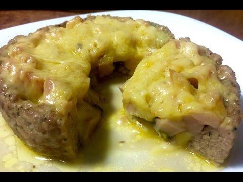 Мясные корзинки с грибами и сыром в духовке — pic 9