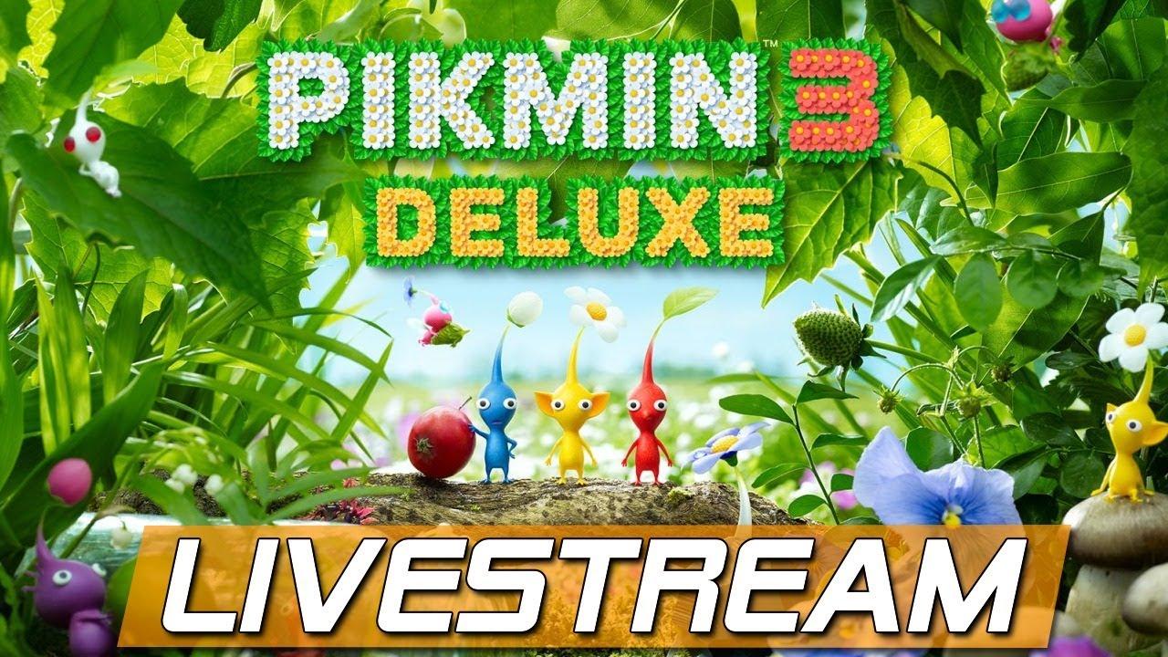 🔴 Pikmin 3 Deluxe Demo - Spontaner Livestream zum Abend
