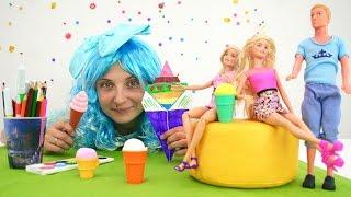 Мороженое для куклы Барби из бумаги. Игрушки для девочек