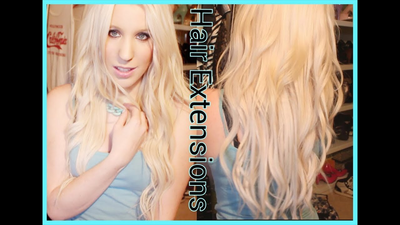 Foxylocks Hair Extensions All About Clip In Hair Extensions Youtube