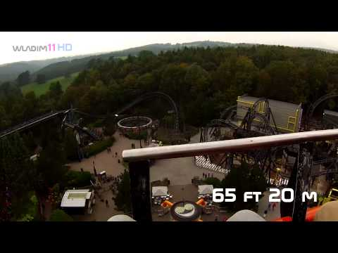 5 Roller Coasters Alton Towers on-ride videos GoPro Hero 3 HD