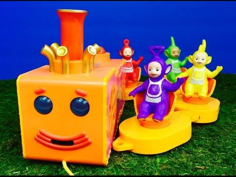 TUBBY CUSTARD Teletubbies Musical Toy and Read Along Mini Book!