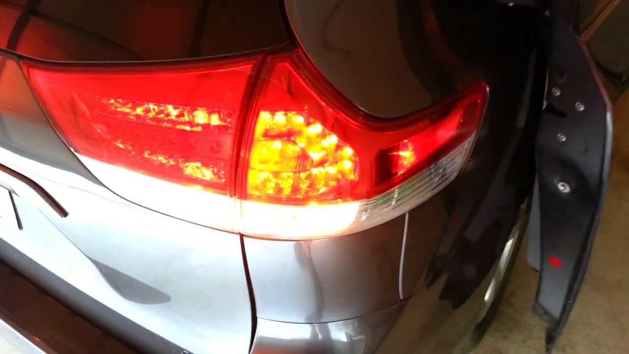 2012 Toyota Sienna Tail Light Housing Checking New Turn