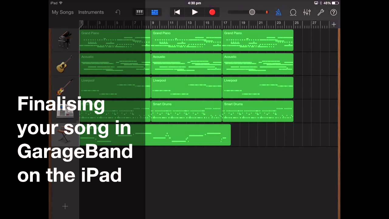 how to make a good song on garageband ipad