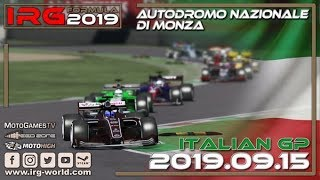 rFactor 2 – IRG Formula 2019 – Round 14 Italian GP - Autodromo Nazionale di Monza - LIVESTREAM