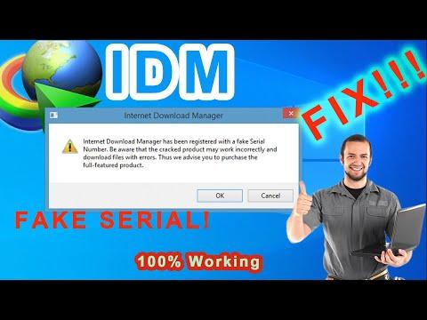 download anti fake serial number idm