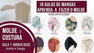 AULA 1 Molde manga base - Aprenda 10 mangas diferentes Alana Santos Blogger