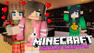 Minecraft Sleepover - THE AWKWARD SLEEPOVER! (Minecraft Roleplay)