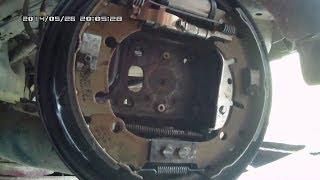 Замена задних тормозных колодок на Ford Fusion