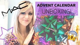 MAC ADVENT CALENDAR 2018 UNBOXING!  - LADY WRITES