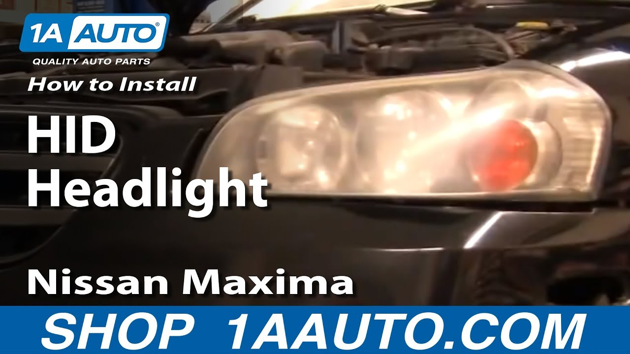 How To Replace Headlight 02 03 Nissan Maxima