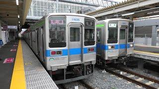 東武10000系10030型11651F 普通柏行・11635F 普通船橋行 高柳出発【4K】