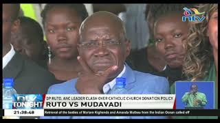 DP Ruto, Musalia clash over Catholic church donation policy