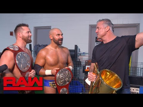 Shane McMahon congratulates The Revival: Raw Exclusive, June 10, 2019