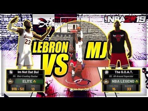 99 OVERALL MICHAEL JORDAN Vs DEMIGOD LEBRON JAMES - G.O.A.T. NBA 2K19