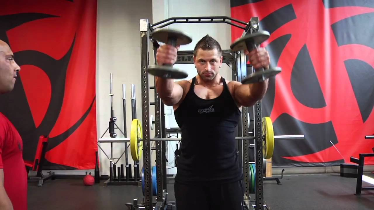 Thumbs-Up Dumbbell Front Raise - YouTube