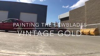 homepage tile video photo for Vintage Gold Plastidip on Supra saw blades