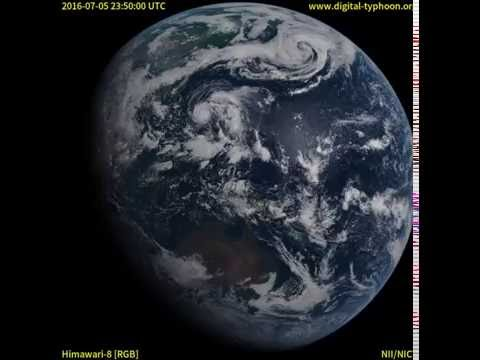 Timelapse of Earth from geostationary orbit