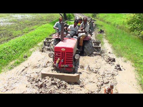 Sonalika 60 Rx Tractor and Mahindra 275 Di Tractor in Muddy way struggling in mud