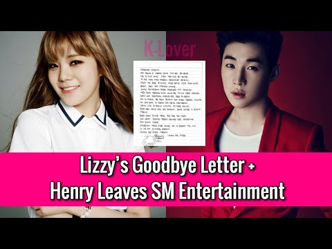 BREAKING Lizzy Graduates From After School + Henry Leaves SM Entertainment