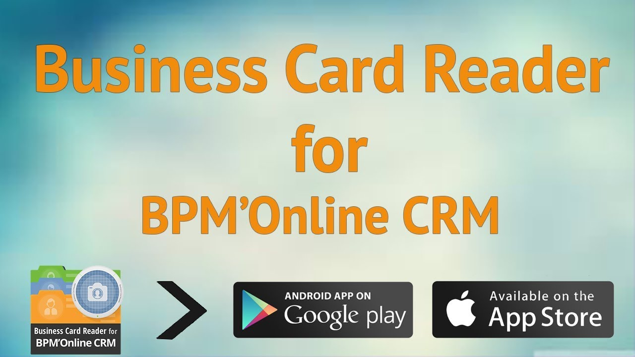 Business card reader for bpmonline crm youtube business card reader for bpmonline crm reheart Images