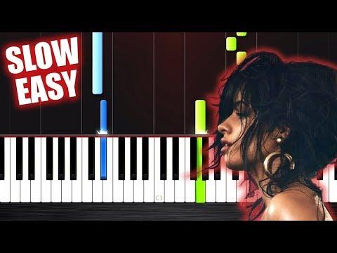 Camila Cabello - Havana - SLOW EASY Piano Tutorial by PlutaX