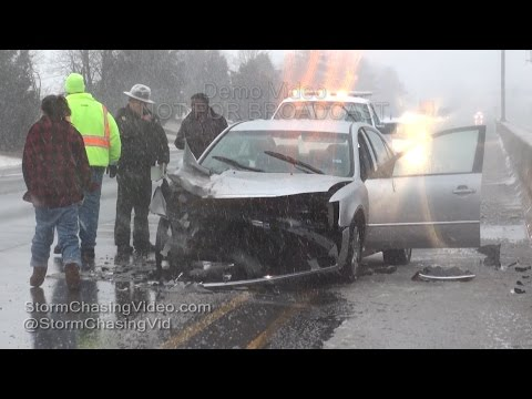 Snowy Accidents in Marion, IL - 2/24/2016