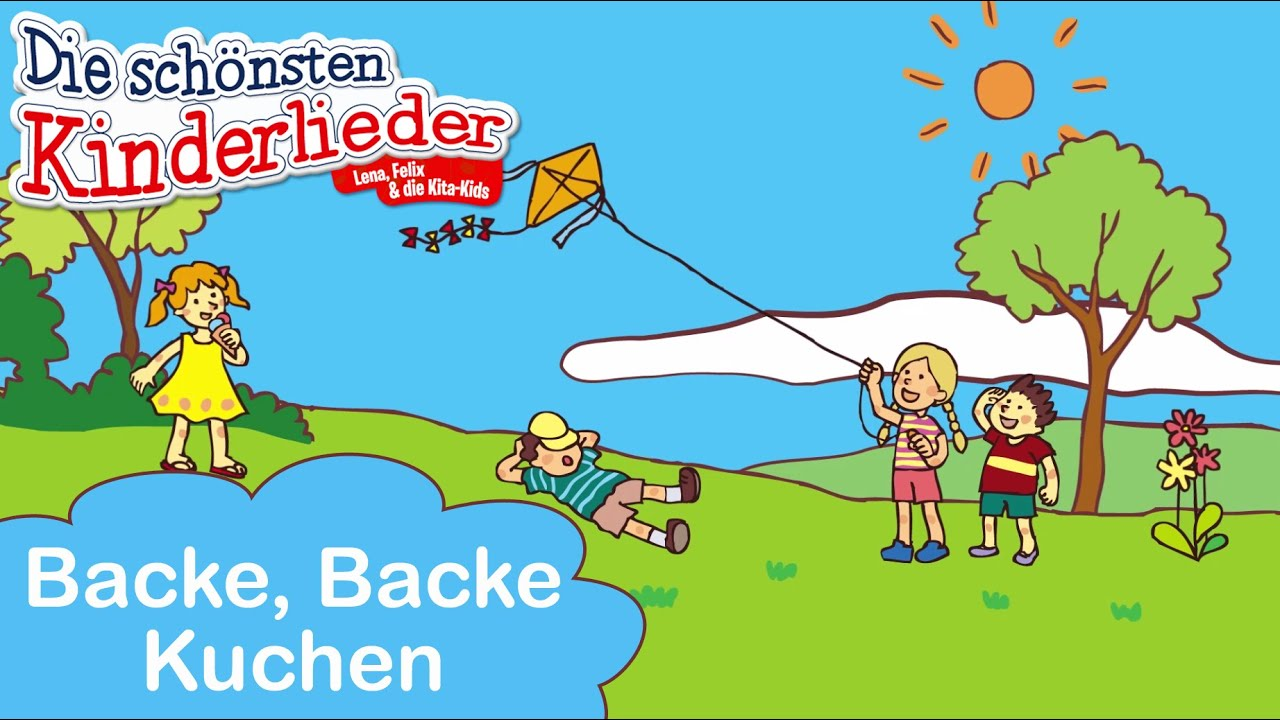 Backe Backe Kuchen Kinderlieder Mit Text Zum Mitsingen Youtube
